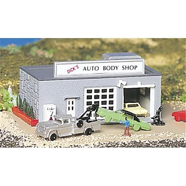 Bachmann N Auto Body Shop Built-Up (Spws4334)