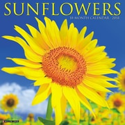 "2018 Willow Creek Press 12"" x 12"" Sunflowers Wall Calendar (46181)"