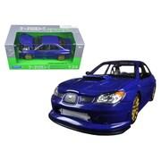 Welly 1 By 24 Scale Diecast Subaru Impreza Wrx Sti Blue Model Car (Dtdp2926)