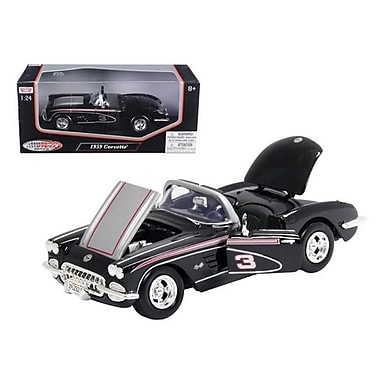 Motormax 1959 Chevrolet Corvette Racer Rcr Series No.3 1-24 Diecast Model Car (Dtdp759)