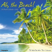 "2018 Willow Creek Press 12"" x 12"" Ah The Beach! Wall Calendar (43883)"