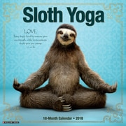 "2018 Willow Creek Press 12"" x 12"" Sloth Yoga Wall Calendar (47935)"