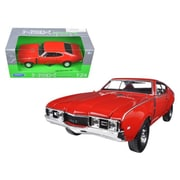 Welly 1 By 24 Scale Diecast 1968 Oldsmobile 442 Red Model Car (Dtdp2930)