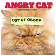"2018 Willow Creek Press 12"" x 12"" Angry Cat Wall Calendar (43968)"