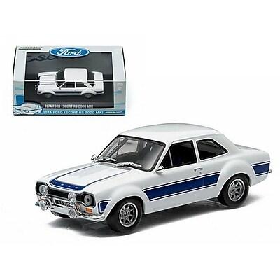 Greenlight 1974 Ford Escort Rs 2000 Mki Blue 1-43 Diecast Car Model (Dtdp1514)