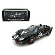 Shelby Collectibles 1 By 18 Scale Diecast 1966 Ford Gt-40 Mk 2 Black2 Model Car (Dtdp2814)