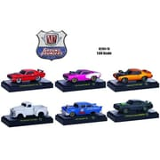 M2 1 By 64 Diecast Ground Pounders 6 Cars Set Release 15 In Display Case Model Cars (Dtdp2839)