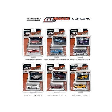 Greenlight Muscle Release 10, 6 Piece Diecast Car Set 1-64 (Dtdp536)