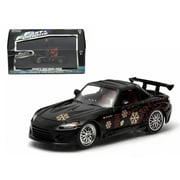 Greenlight Johnnys 2000 Honda S2000 Black The Fast & The Furious Movie 2001 1-43 Diecast Model Car (Dtdp2126)