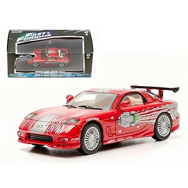Greenlight Doms 1993 Mazda Rx-7 Red The Fast & The Furious Movie 2001 1-43 Diecast Car Model (Dtdp2125)