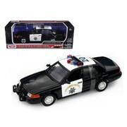 Motormax 73501 Bk-W Ford Crown Victoria California Highway Patrol Car Chp Black & White 1-18 Diecast Model Car (Dtdp622)