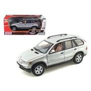 Motormax Bmw X5 Silver 1-18 Diecast Model Car (Dtdp420)