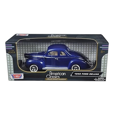 Motormax 1940 Ford Deluxe Blue 1-18 Diecast