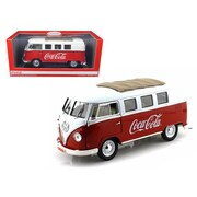 Motorcity Classics 1-18 1962 Volkswagen Samba Bus Van Coca Cola Red & White (Dtdp2492)