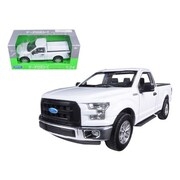 Welly 2015 Ford F-150 Pickup Truck Regular Cab White 1-24 Diecast Model (Dtdp1255)