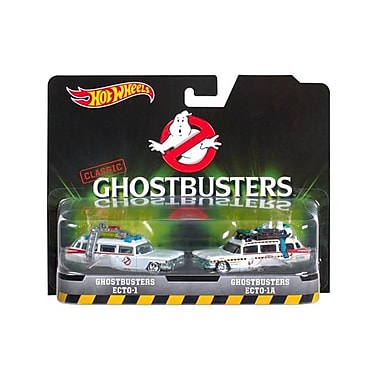 Hot Wheels Ghostbusters Ecto 1 & Ecto 1A Cars Diecast Model Cars, Set Of 2 (Dtdp3040)