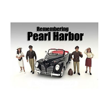 American Diorama 1 By 24 Scale Remembering Pearl Harbor Figure Set, 4 Piece (Dtdp2812)