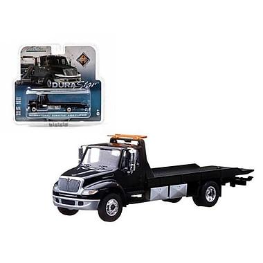 Greenlight 2013 International Durastar 4400 Flatbed Black Body Black Bed Tow Truck In Blister Pack 1-64 Diecast Model (Dtdp599)