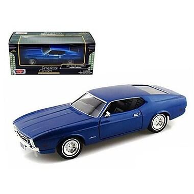 Motormax 1971 Ford Mustang Sportsroof Blue 1-24 Diecast Model Car (Dtdp561)
