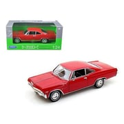 Welly 1965 Chevrolet Impala Ss 396 Red 1-24 Diecast Car Model (Dtdp1842)