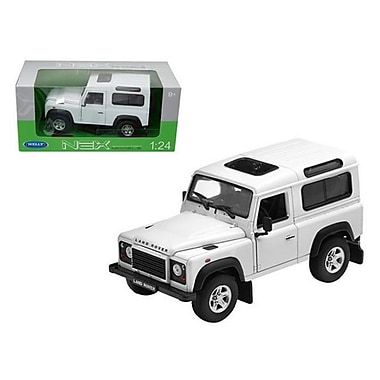 Welly Land Rover Defender White Diecast Car Model 1-24 Diecast Car (Dtdp1843)