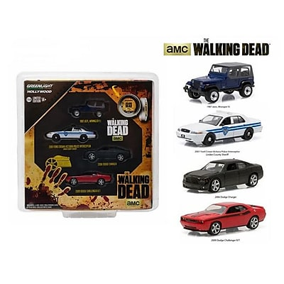 Greenlight Hollywood Film Reels Series 4 The Walking Dead 2010-Current Tv Series 4 Cars Set 1-64 Diecast Model Cars (Dtdp1581) 23982204