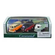 Cararama 1 By 72 Scale Diecast Volkswagen Bus Gift Set In Display Showcase Model Cars, 3 Piece (Dtdp3015)