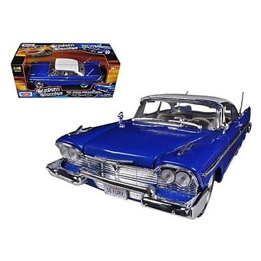 Motormax 1958 Plymouth Fury Blue Custom 1-18 Diecast Car Model (Dtdp639)