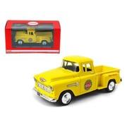 Motorcity Classics 1955 Chevrolet Pickup Truck Stepside Coca Cola Yellow 1-43 Diecast Model (Dtdp2496)