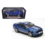 Shelby Collectibles 2008 Ford Shelby Mustang Gt500Kr Blue 1-18 Diecast Car Model (Dtdp1057)