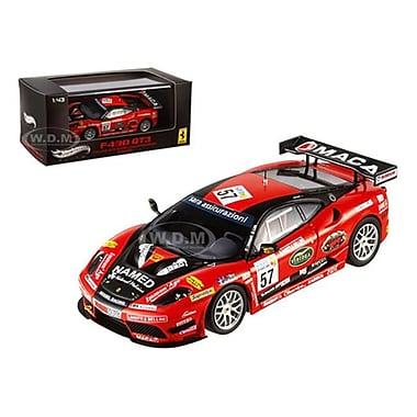 Hot Wheels Ferrari F430 Gt3 No.57 Italian Gt3 2009 Championship Winner Elite Edition 1-43 Diecast Model Car (Dtdp2363)