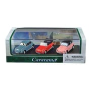 Cararama 1 By 72 Scale Diecast Volkswagen Beetle Gift Set In Display Showcase Model Cars, 3 Piece (Dtdp3016)