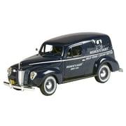 Motorhead Miniatures 1940 Ford Panel Livery Model Van, Blue (Mtrhm033)