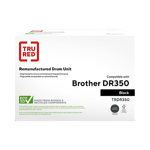 TRU RED™ Brother (DR-350) Black Remanufactured Drum Unit