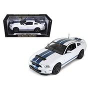 Shelby Collectibles 2013 Ford Shelby Cobra Gt500 Svt White With Blue Stripes 1-18 Diecast Car Model (Dtdp1065)