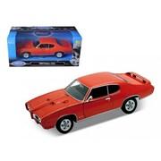 Welly 1969 Pontiac Gto Judge Orange 1-24 Diecast Model Car (Dtdp1196)