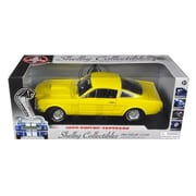 Shelby Collectibles 1966 Ford Shelby Mustang Gt 350 Fastback Yellow 1-18 Diecast Car Model (Dtdp1012)