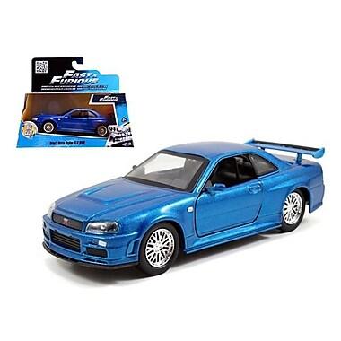 Jada Brians Nissan Skyline Gt-R R34 Blue Fast & Furious Movie 1-32 Diecast Car Model (Dtdp1879)