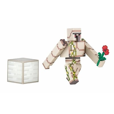 Zoofy International Minecraft Iron Golem Action Figure With Accessory, 2.75 In. (Jnsn80036) 23982019