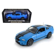 Shelby Collectibles 2013 Ford Shelby Mustang Gt500 Svt Cobra Grabber Blue With Black Stripes 1-18 Diecast Car Model (Dtdp1062)