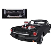 Shelby Collectibles 1965 Ford Shelby Mustang Gt350R With Racing Engine Matt Black 1-18 Diecast Car Model (Dtdp1014)