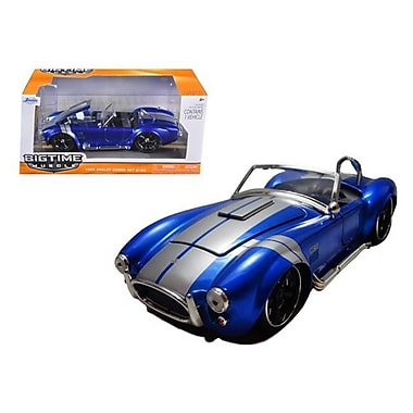 Jada 1965 Shelby Cobra 427 S & C Candy Blue With Silver Stripes 1-24 Diecast Model (Dtdp1364)