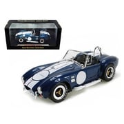 Shelby Collectibles 1965 Shelby Cobra 427 S & C Blue With Printed Carroll Shelby Signature 1-18 Diecast Model Car (Dtdp1036)