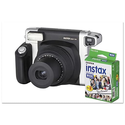 Fuji Photo Film USA 16 Mp Instax Wide 300 Camera Bundle, Auto Focus -  Black(AZTY05565)