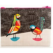 Frontier Natural Products Blue Q Pretty Bird Zipper Pouch (Fntr07268)