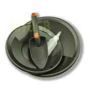 Make Your Own Gold Bars Gold Panning Kit Black Pans Bottle Snuffer & Scoop-Mining Prospecting, 10 & 12 In. (Mkyg028)