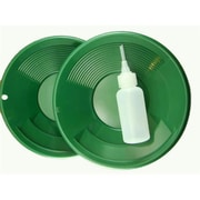 Make Your Own Gold Bars Green Gold Pans With Bottle Snuffer-Panning Kit-Duel Riffles-Mining, 8 In. - Lot Of 2 (Mkyg017)