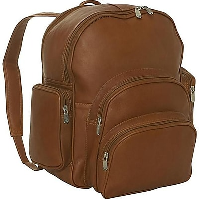 Piel Leather Expandable Backpack - Saddle(PIEL1400)