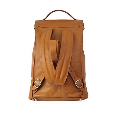 Piel Leather Mens Leather Vertical Backpack, Saddle(PIEL1990)