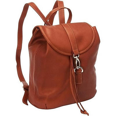 Piel Leather Medium Drawstring Backpack - Saddle(PIEL09280)